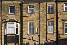 Rear tenement. A rear aspect of sunlit Glasgow tenement royalty free stock photos