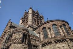 The rear of Trinity Church. The historic Trinity Church at Copley square in Boston Massachusetts Stock Photos