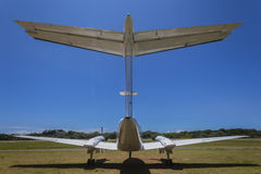 Rear Twin Prop Aircraft Close Royalty Free Stock Images