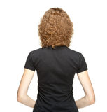 Rear veiw portrait of young woman Royalty Free Stock Images