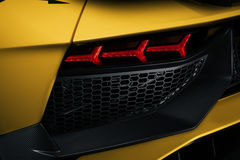 Rear ventilation of the Aventador SV Royalty Free Stock Photo