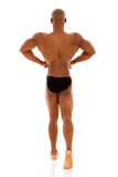 Rear view african bodybuilder Royalty Free Stock Photo