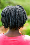 Rear view of African girl with braided hair. Stock Photography