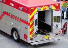 Rear view of ambulance fire engine in Fl Stock Image