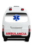 Ambulance. Rear view of an ambulante Royalty Free Stock Photos