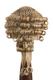 Court wig on white Royalty Free Stock Image