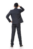 Rear view of Asian businessman Royalty Free Stock Photos