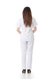 Rear view of Asian nurse Stock Photography