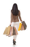 Rear view of Asian shopping woman Royalty Free Stock Photography
