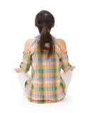 Rear view of Asian woman sit Royalty Free Stock Photos
