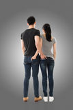 Rear view of Asian young couple Royalty Free Stock Photos