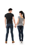 Rear view of Asian young couple Stock Photos