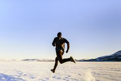 rear view athlete runner Stock Photography