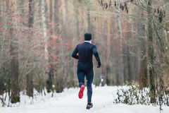 Rear view athlete runner Royalty Free Stock Photo