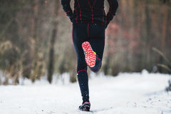 Rear view athlete runner Stock Images