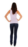 Rear view of an attractive teenage girl Stock Photo