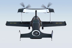 Rear view of autonomous flying drone taxi concept Stock Photography