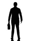 Rear view back business man silhouette Royalty Free Stock Photos