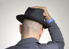Rear view from a bald head Royalty Free Stock Photography