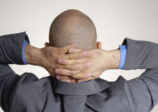 Rear view from a bald head Royalty Free Stock Photo