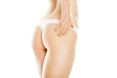 Rear view of beautiful caucasian woman Royalty Free Stock Photo