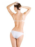 Rear view of  beautiful female body Stock Photo