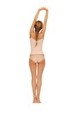 Rear view of beautiful woman in cotton undrewear Royalty Free Stock Photo