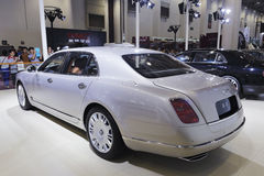 Rear view of bentley mulsanne car Royalty Free Stock Photos