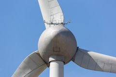 Rear view of big wind turbine in The Netherlands royalty free stock photography