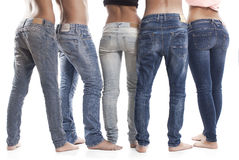 Rear View Of Blue Jeans Royalty Free Stock Photos