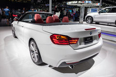 Rear view of BMW 420i Convertible on display Royalty Free Stock Photography
