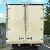 Rear view on the body cargo van Stock Image