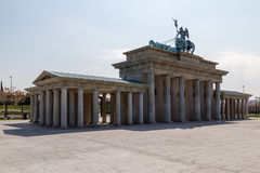 Rear view of the Brandenburg Gate Stock Images