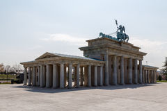 Rear view of the Brandenburg Gate Stock Photo