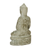 Rear view of Buddha Statue. Stock Photography