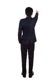 Rear view of business man pointing at something, full length iso Royalty Free Stock Photo