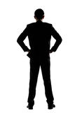 Rear view of business man standing Royalty Free Stock Photography