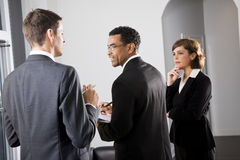 Rear view of businesspeople Royalty Free Stock Photos