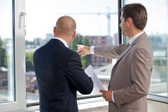 Rear view of businesspeople Stock Image