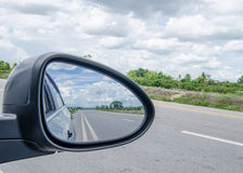 Rear view of car mirror Stock Photography