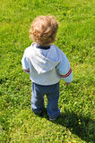 Rear view of a child Stock Photo