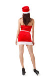 Rear view of Christmas girl Stock Photography