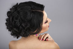 Rear view of a coiffure Royalty Free Stock Images