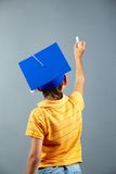 By the blackboard Stock Images