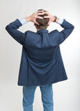 Rear view of a desperate man Royalty Free Stock Photo