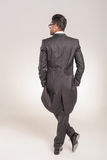 Rear view of a elegant young business man Stock Photography
