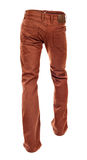 Rear view of empty brown jeans Royalty Free Stock Image