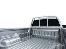 Rear view of empty pick-up truck Stock Photo