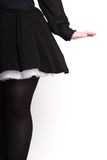 Rear view of female in black Royalty Free Stock Photography