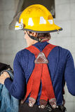 Rear View Of Firewoman In Uniform Stock Photos